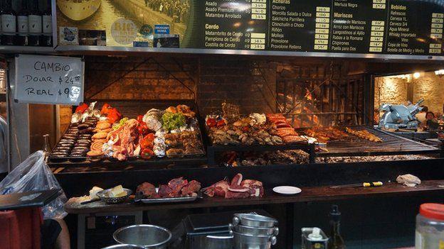 An open grill in Uruguay
