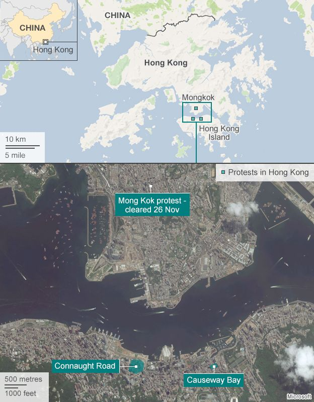 Hong Kong Protests What Changed At Mong Kok BBC News - Us news today president protesters map