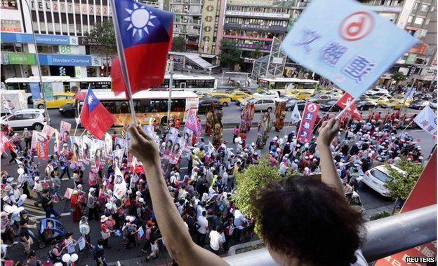 Rally for Sean Lien in Taipei (22 Nov 2014)
