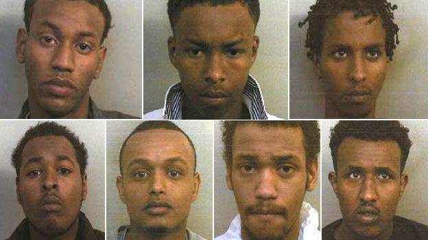 Clockwise from top left: Mohamed Jumale, Said Zakaria, Sakariah Sheikh, Mohamed Dahir, Omar Jumale, Abdirashid Abdulahi and Jusef Abdirizak