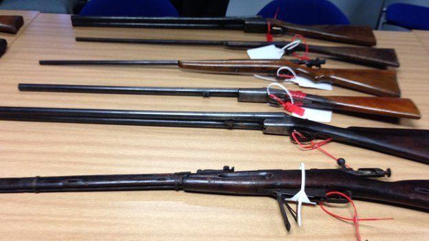 Merseyside Police amnesty shotguns