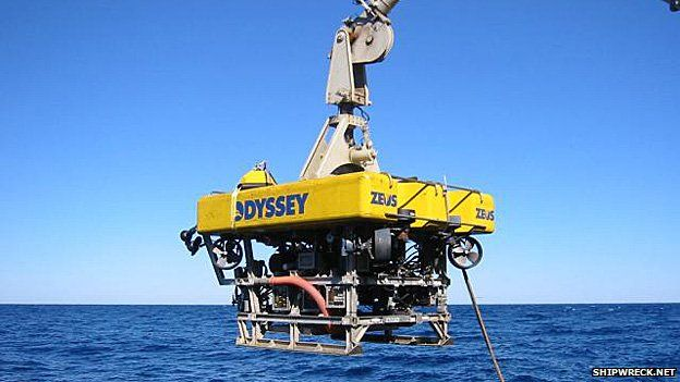 Odyssey's eight-tonne remotely operated vehicle (ROV), Zeus