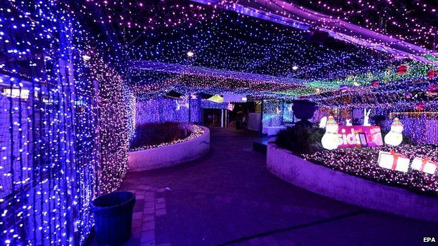 Canberra Christmas lights set world record - BBC News