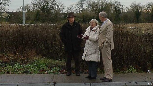 Eamonn Doyle (left) and his wife Mae stopped to help the woman who had gone into labour in her car