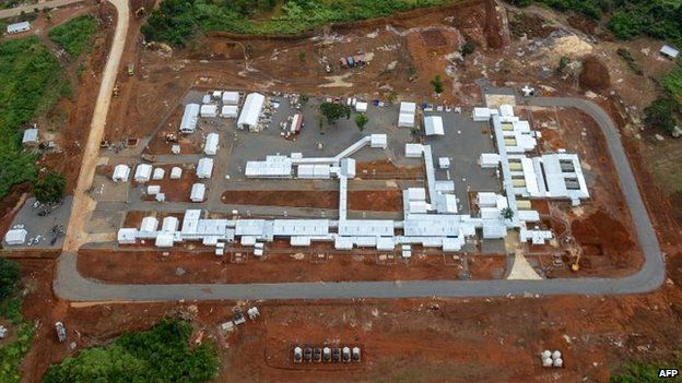 The Kerry Town Ebola treatment centre, on the outskirts of Freetown, Sierra Leone, 3 Nov