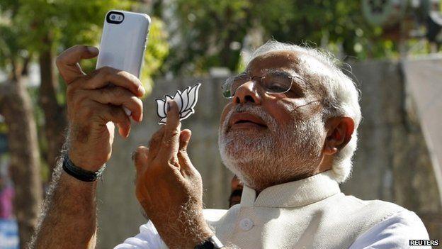 PM Narendra Modi takes a selfie