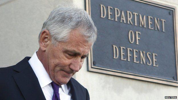 US Secretary of Defense Chuck Hagel appeared in Washington DC on 24 November 2014
