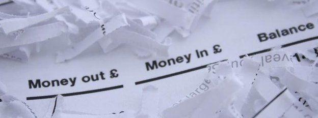 Shredded bank balance