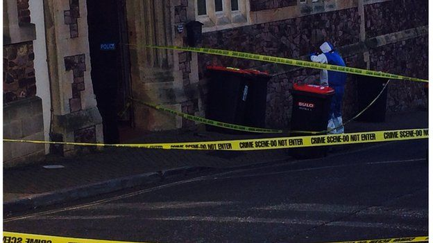 Bins being taken away as part of police search