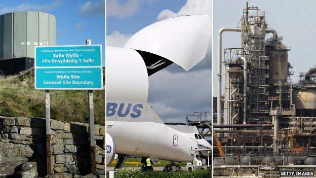 Wylfa, Airbus and a Milford Haven refinery