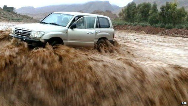 Flood waters in southern Morocco