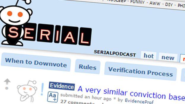 Reddit Serialpodcast page
