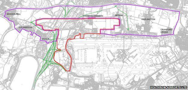 Heathrow compensation map