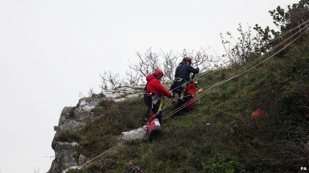 Mountain Rescue teams on the gorge