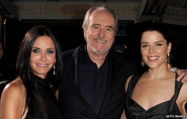 Courtney Cox, Wes Craven and Neve Campbell