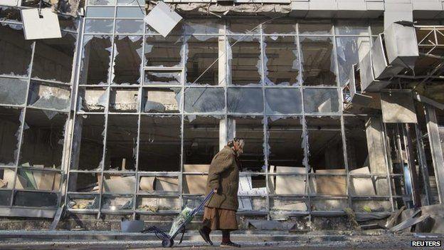 War damage in Donetsk, October