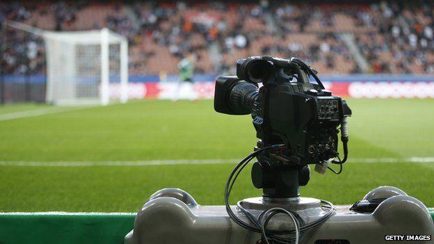 Camera at a football match