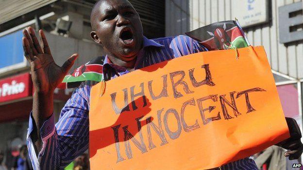 Uhuru Kenyatta supporter