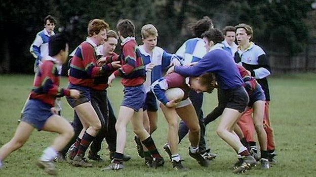 School rugby game