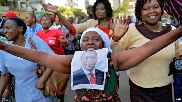 Supporters of Uhuru Kenyatta