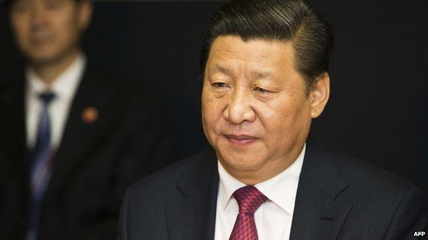 Chinese President Xi Jinping . 21 Nov 2014
