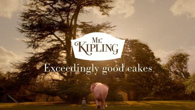 Shot from a Mr Kipling TV advert