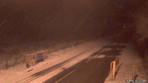 snow on A93 Braemar to Glenshee