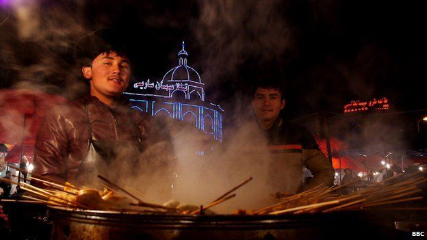 The night market in Kashgar
