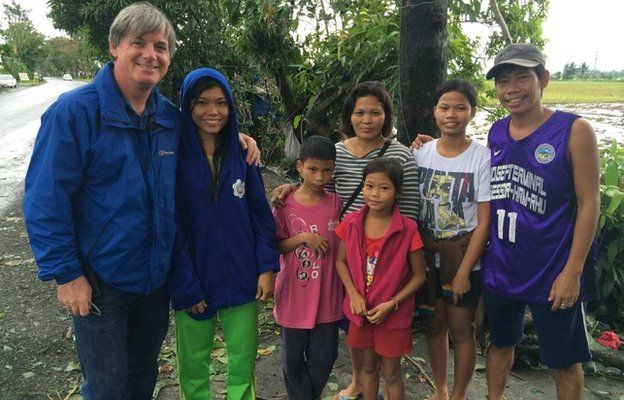 Jonathan Head with Philippine family (8 Dec 2014)