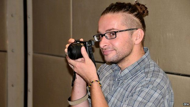 US journalist Luke Somers in Sanaa, Yemen. He was killed by al-Qaeda gunmen during a rescue attempt by US Special Forces - 15 July 2013