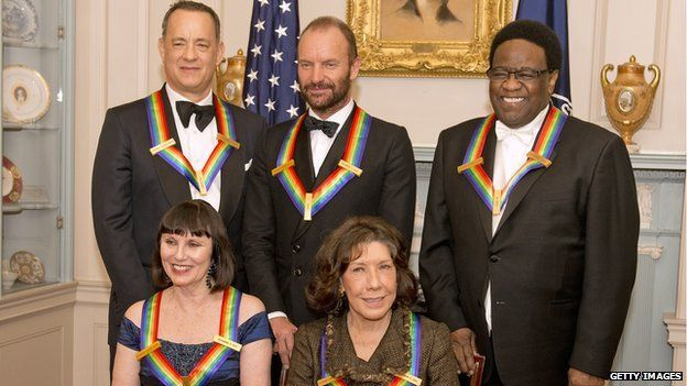 Clockwise from left: Tom Hanks, Sting, Al Green, Lily Tomlin and Patricia McBride