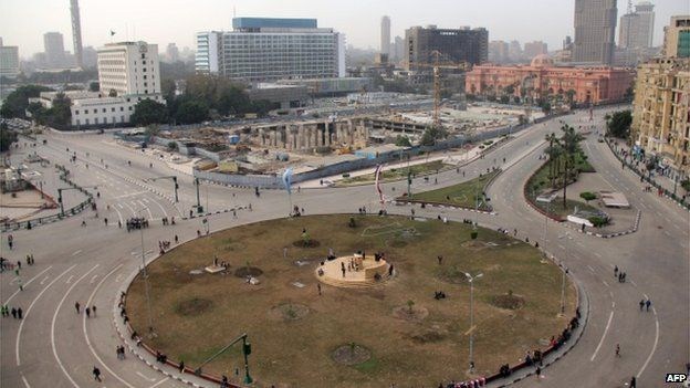 A general view taken on January 26, 2014 shows Cairo's Tahrir square