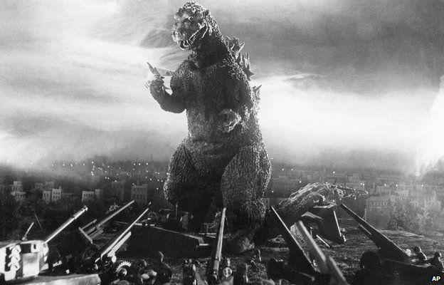 A still from the original 1954 Godzilla film directed by Ishiro Honda