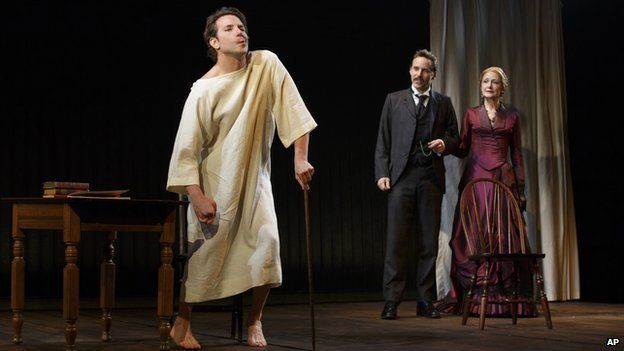 Bradley Cooper with Alessandro Nivola and Patricia Clarkson in The Elephant Man