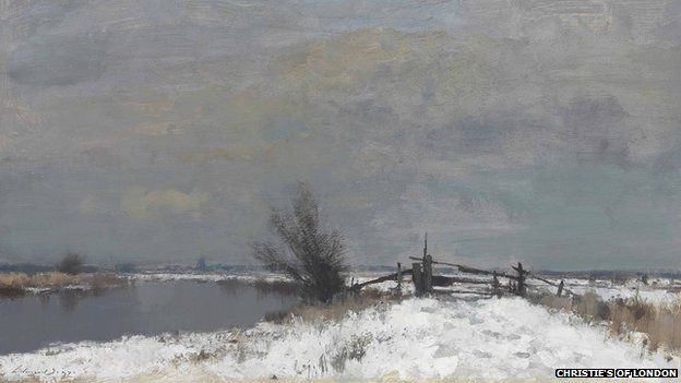 Winter by the Thurne by Edward Seago