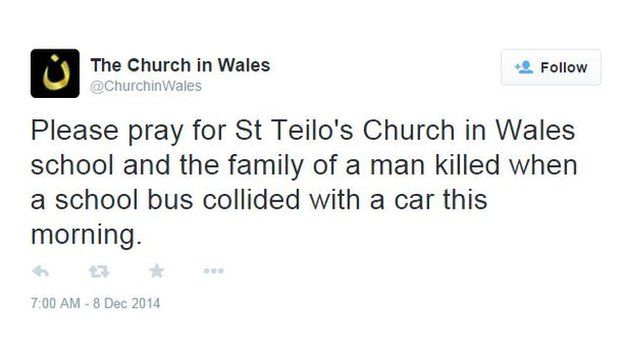 Church in Wales tweet