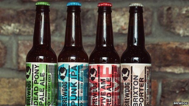 Four botles from BrewDog's range