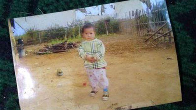 A childhood photograph of Khin Khin Oo