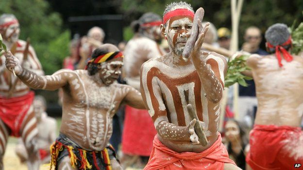 Members of the Aboriginal community perform a traditional ritual in Sydney. File photo