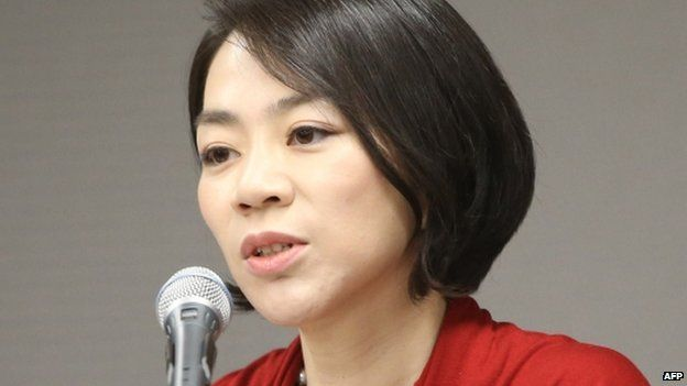 This picture taken on 3 September 2014 shows Heather Cho (also known as Cho Hyun-Ah, speaking in Incheon, west of Seoul