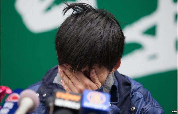 Leader of the student group Scholarism, Joshua Wong attends a press conference at the pro-democracy movement's main protest site in the Admiralty district of Hong Kong on 4 December 2014.