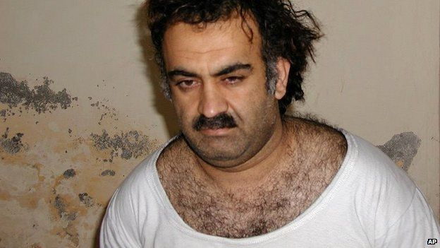 Khalid Sheikh Mohammed, the mastermind of the September 11 attacks, shortly after his capture in Pakistan - 1 March 2003