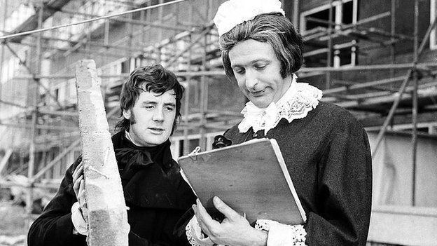 Michael Palin and Graham Chapman in Monty Python's Flying Circus