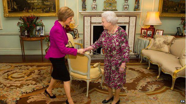 Nicola Sturgeon and the Queen