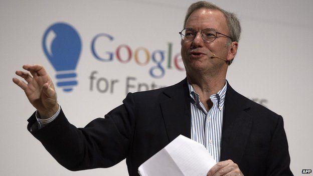 Google executive chairman Eric Schmidt in Madrid.