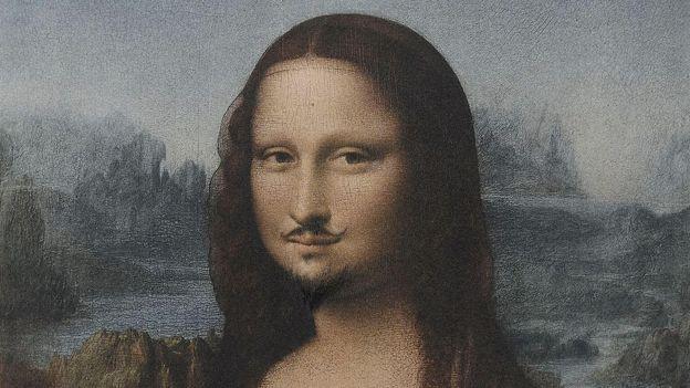 Mona Lisa with moustache