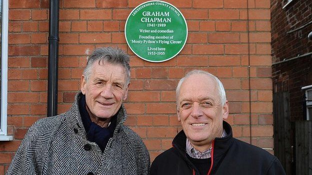 Michael Palin with county council leader Nick Ruston
