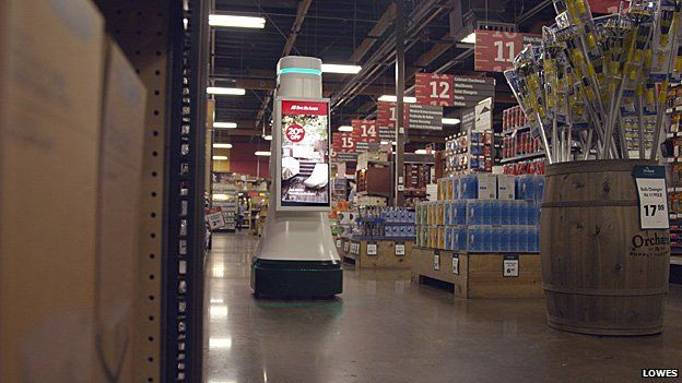 The OSHbot is on the shop floor at the Lowes in San Jose