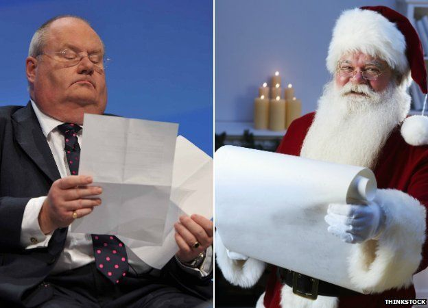 Eric Pickles and Father Christmas