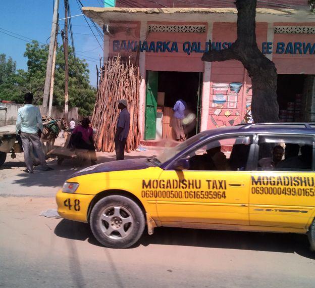 A taxi in Mogadishu